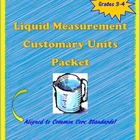 Customary Liquid Measurement Activity Packet