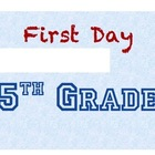 "Customizable & Printable ""First Day of School"" sign"