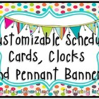 Customizable Schedule Cards and Pennant Banner {Bright Cla