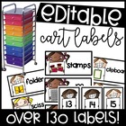 Customizable Supply Labels for 10 drawer carts!