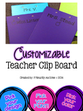 Customizable Teacher Clipboard (set of 1 any color)