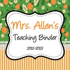 Customizable Teacher's Binder Covers