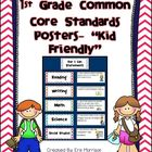 Customized 1st Grade Common Core Standards Posters- &quot;Kid F