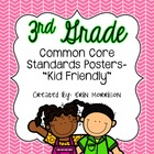 Customized 3rd Grade Common Core Standards Posters- &quot;Kid F