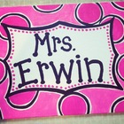 Customized Hand-Painted Classroom Teacher Name Sign