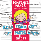 Cut &amp; Paste Kindergarten Simple Sentence Writing + Reading
