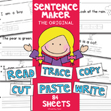 "Writing Worksheets - 'Sentence Maker"" Basic Writing + Reading"