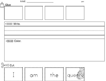 Cut & Paste Sentences for SIGHT WORDS SET 10