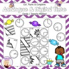 Cut, Paste and Complete - Analogue & Digital Time