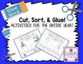 Cut, Sort & Glue!  Activities for the ENTIRE year!