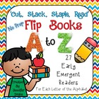 Cut, Stack, Staple, Read! Early Emergent Readers ~A to Z~