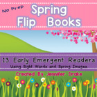 Cut, Stack, Staple, Read!  Early Emergent Readers ~Spring Pack~