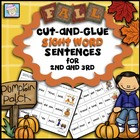 Cut-and-Glue Fall Themed Sight Word Sentences for 2nd & 3rd