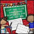Cut-and-Glue School Themed Sight Word Sentences for 2nd & 3rd