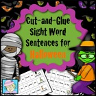 Cut-and-Glue Sight Word Sentences for Halloween
