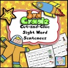Cut-and-Glue Sight Word Sentences for Third Grade