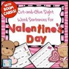 Cut-and-Glue Sight Word Sentences for Valentine's Day