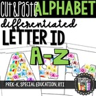 Cut & Paste Letters: Differentiated Worksheets A-Z {PreK-K