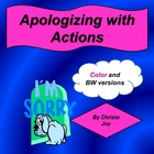 Cut and Paste Apologize with Actions picture match