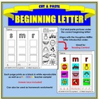 Cut and Paste Beginning Letter Sound - Houghton Mifflin ABC order