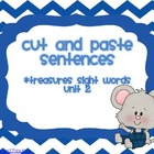 Cut and Paste Sentences (Treasures Unit 2)