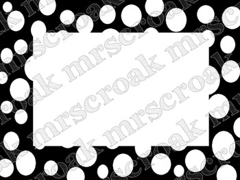 Cute Black and White Printable Labels