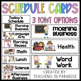 Cute Cards to Use With Daily Schedule