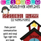 Editable Newsletter Templates (12 included): Cute Seasonal Theme