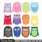 Cute, Colorful Owl Clip Art