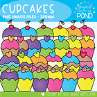 Cute Cupcakes - Graphics for Teachers and Worksheets
