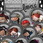 Cute Kid and Dots School Supply Labels