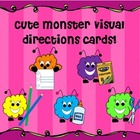 Cute Monster Visual Directions Cards!