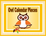 Cute Owl Calendar Pieces