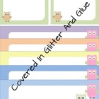 Cute Owl Labels