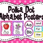 Cute Polka Dot Alphabet Posters (with border)