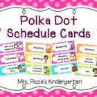 Cute Polka Dot Daily Schedule Cards