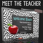 Cute Welcome Back to School Presentation - Meet the teache
