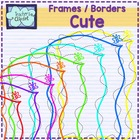 Cute borders {heart, star and butterfly}