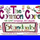 "Cutest EVER! 2nd / SECOND Grade Common Core ""WE CAN"" Poste"