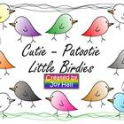 Cutie - Patootie Little Birdies Clip Art Collection
