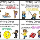 Work on Writing - Writing Cards - 4th set - for asking que