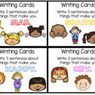 WRITING - Writing cards - 3rd Set