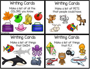 D5 Work on Writing - Writing Cards for List Making and More