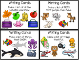 Writing Task Cards - Lists