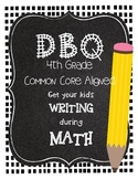 DBQ Document Based Questions - 4th Grade Math