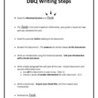 DBQ Writing Steps