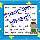 DIAGRAPH BINGO GAME!  Wh, Sh, Ch, Th, and Ck!  FUNdations 