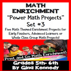 DIFFERENTIATED MATH POWER PROJECT CHOICES WEEK #3