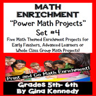 DIFFERENTIATED MATH POWER PROJECT CHOICES WEEK #4
