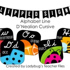 DN Cursive Alphabet Line (Flipped Signs)